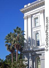 gebouw, bovenkant, califronia, capitool