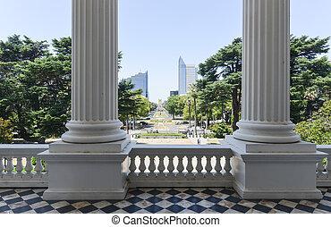 gebouw, californië, capitool, aanzicht