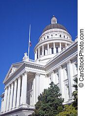 gebouw, californië, capitool