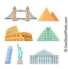 gebouw, capitool, usa, illustratie, vector, colosseum