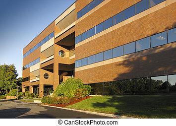 gebouw, commercieel, kantoor