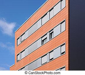gebouw, concrete baksteen, bouwsector, buitenkant
