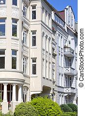 gebouw, duitsland, kunst nouveau, kiel