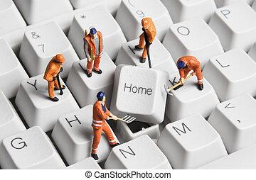 gebouw, een, thuis, gebaseerd, zakelijk