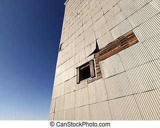 gebouw, exterior.