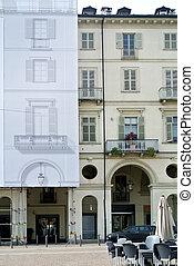 gebouw facade, historisch, vernieuwing