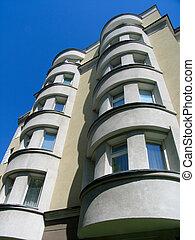 gebouw, flat