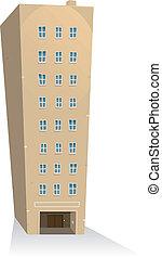 gebouw, flats