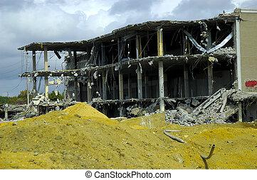 gebouw, gesloopte