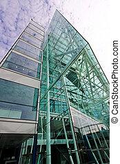 gebouw, glas