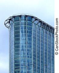 gebouw, hoek, glas