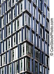 gebouw, hoek kantoor
