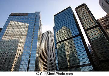 gebouw, hong, kantoor, kong
