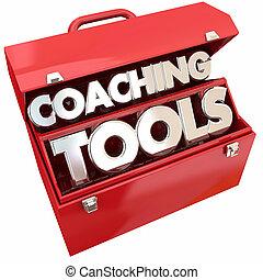 gebouw, illustratie, coachend, bewindvoering, team, toolbox, gereedschap, 3d