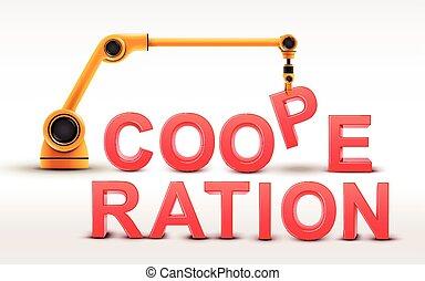 Gebouw, Industriebedrijven, Woord, samenwerking, Robotachtig,  arm