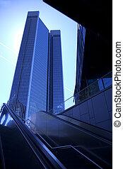 gebouw, kantoor, centrum, zakelijk