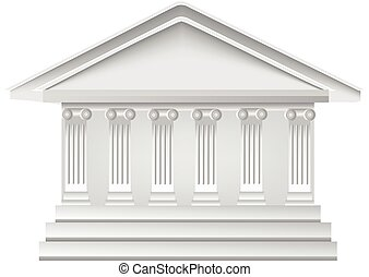 gebouw, logo, witte