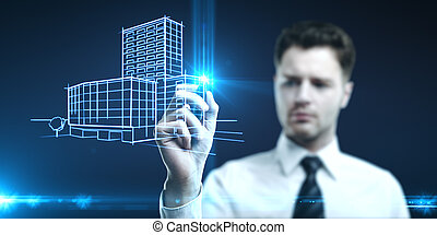 gebouw, model