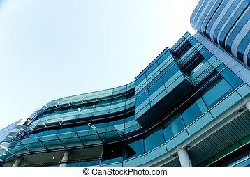 gebouw, moderne, buitenkant