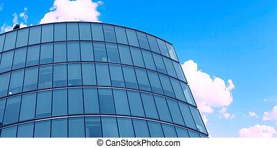 gebouw, moderne, closeup