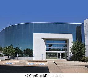 gebouw, moderne, commercieel, kantoor