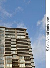 gebouw, moderne, detail