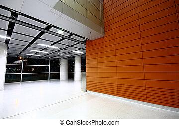 gebouw, moderne, zaal