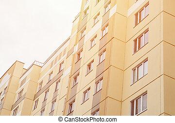 gebouw, nieuw, flat, moderne, detail
