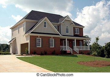 gebouw, nieuw huis