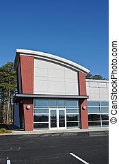 gebouw, nieuw, moderne, commercieel