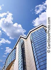 gebouw, op grote hoogte, kantoor