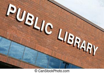gebouw, openbare bibliotheek