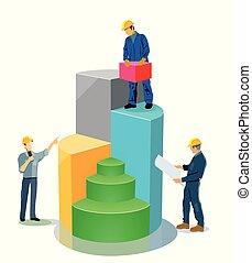 gebouw, opvoering, evenwicht, illustratie, blad
