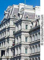 gebouw, oud, kantoor, uitvoerend, washington dc, beaux