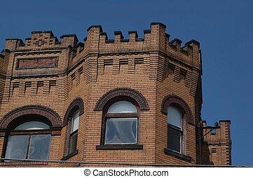 gebouw, oud, ontwerp