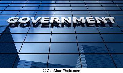 gebouw, regering, blauwe hemel, timelapse.