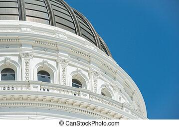 gebouw, sacramento, californië, capitool