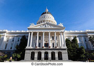 gebouw, staat, californië, capitool