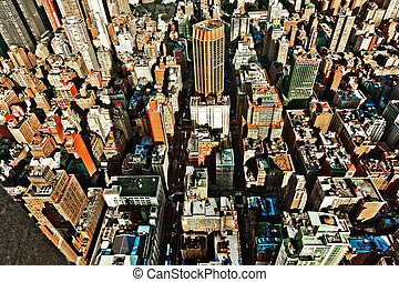 gebouw, staat, york, nieuw, keizerrijk, aanzicht