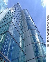 gebouw, stad, kantoor