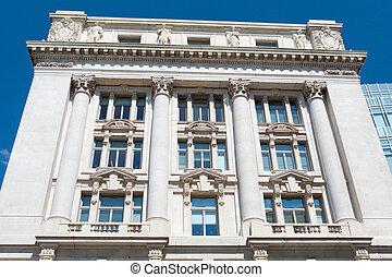 gebouw, stad, kunsten, washington, wilson, dc, beaux, zaal