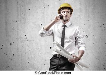 gebouw stek, ingenieur