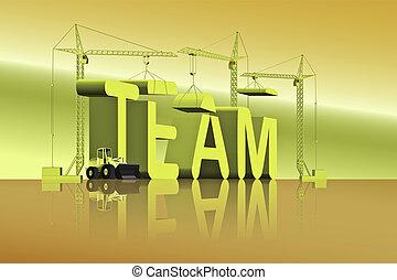 gebouw, team