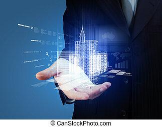gebouw, techniek, ontwerp, automatisering