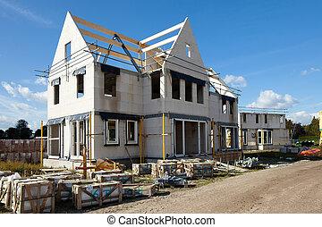 gebouw, thuis, gezin, nieuw