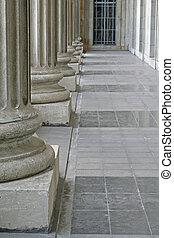 gebouw, universiteit, structuur