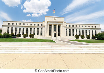 gebouw, usa, federaal, washington dc, bank, reserveren