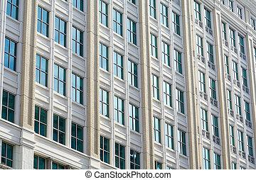 gebouw, usa, kantoor, moderne, washington dc, facade