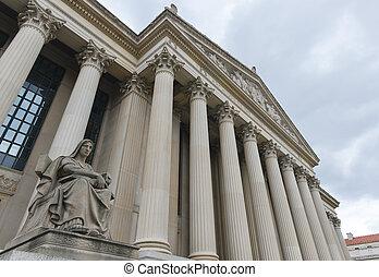 gebouw, verenigd, washington dc, staten, archief