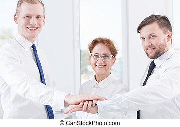 gebouw, verhouding, team